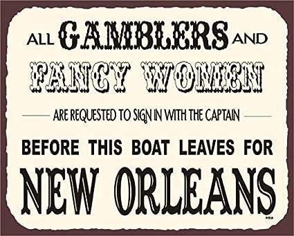 Amazon Com Liz66ward Gamblers Fancy Women Metal Signs Vintage Funny