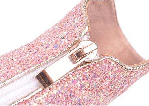 Herbst und High weibliche große wies Pink Stiefel XZ Winter Stiefeletten dünne Heel pBdwRpx5Xn