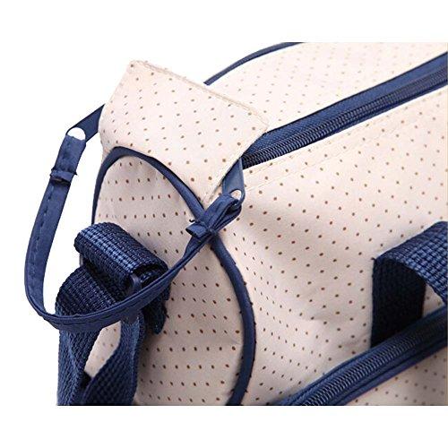 Win8Fong del bebé Set de 5en 1Oso Bolso de hombro Durable pañales pañal para Mummy bolsas morado profundo azul