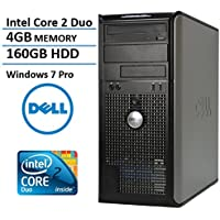 Dell Optiplex MIni Tower Business Desktop Computer PC (Intel Dual-Core 3.06GHz Processor, 4GB DDR3 Memory, 160GB HDD, DVDRW, VGA, DisplayPort, Windows 7 Professional)