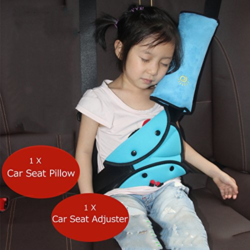 Iokone Seatbelt Adjuster Vehicle Seat Belt Safety Covers Auto Pillow Car Safety Belt Protect Shoulder Pad Adjuster for Kids
