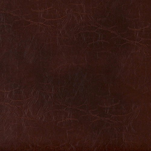 G489 Sienna Brown Distressed Leather Look Upholstery Grade Recycled Leather (Bonded Leather) by The Yard
