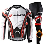 sponeed Bicycle Clothing Set Thermal Fleece Cycling