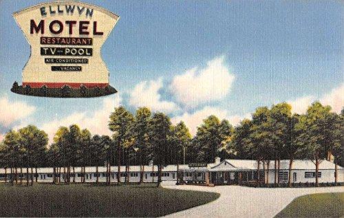 (Petersburg Virginia Ellwyn Motel Linen Antique Postcard K10088)