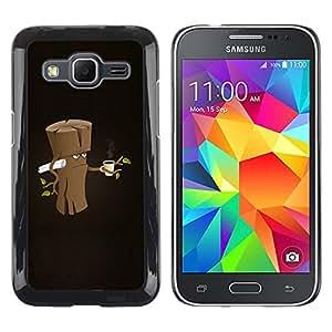 YiPhone /// Prima de resorte delgada de la cubierta del caso de Shell Armor - Funny Grumpy Morning Wood - Samsung Galaxy Core Prime SM-G360