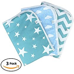 "Premium Changing Pad Liner | Bed pad | Play Mat | 3 Pack | Waterproof | Thicker Extra Large 27.5"" X 19.5"" 
