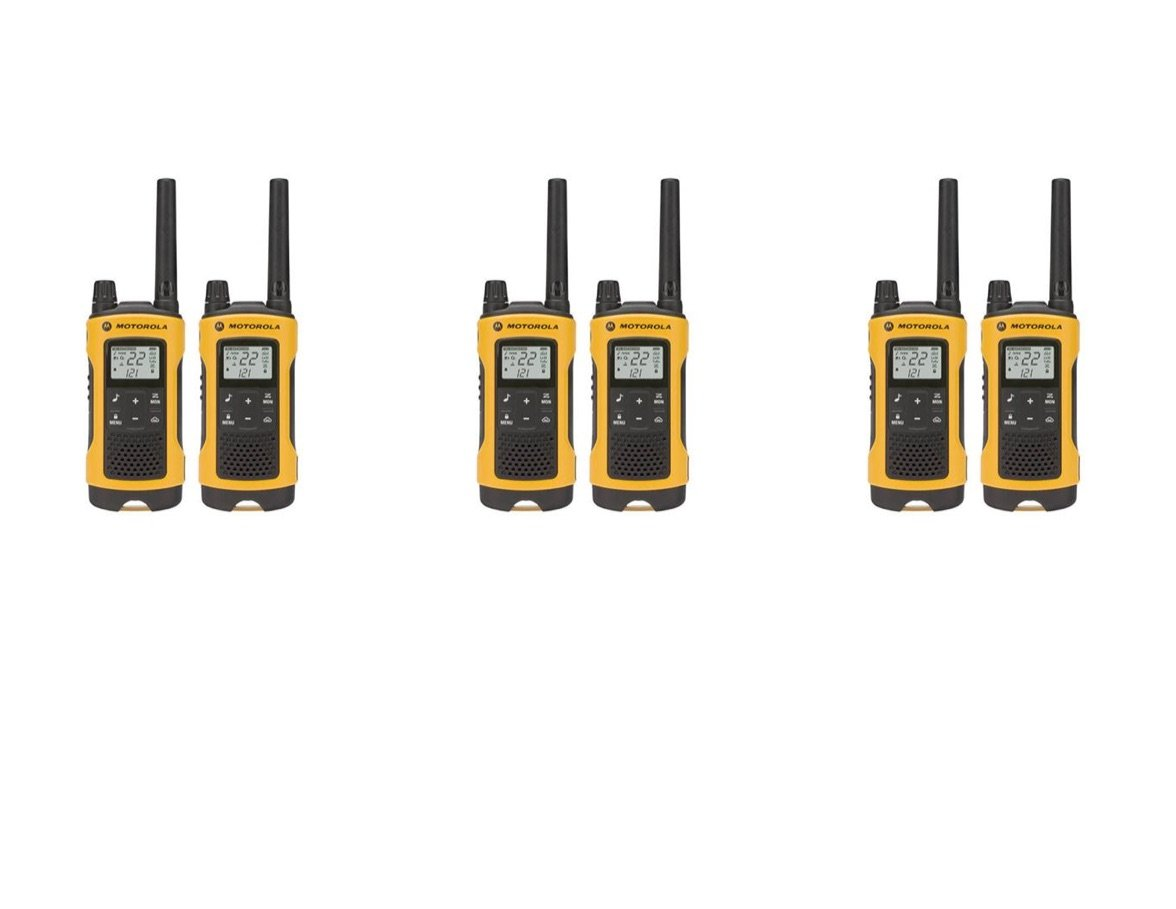 Motorola Talkabout T400 Two-Way Radios Weatherproof PTT IVOX Eco Smart Walkie Talkies 6-PACK