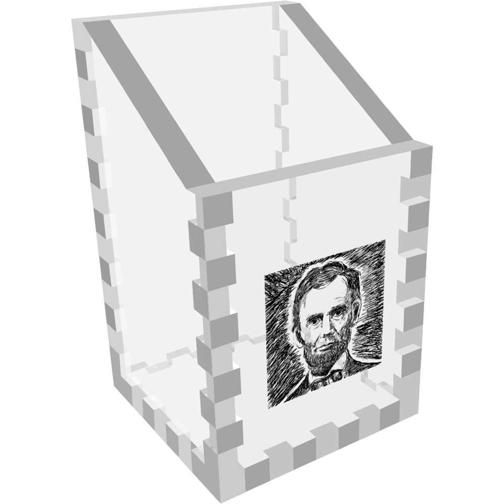 Mini Abraham Lincoln Claro Organizador de Escritorio / Lápiz ...