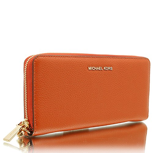 MICHAEL Michael Kors KORS STUDIO Mercer Travel Continental Wallet Orange by MICHAEL Michael Kors (Image #1)