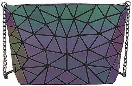 KIYOUMI Femmes Sac holographiques réfléchissant en Cuir PU Sacs à Main Shard Lattice Eco-Friendly Holographic Porte-Monnaie 3Pcs Set