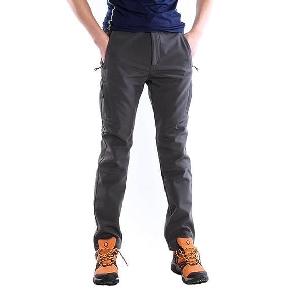 (スポする)Runwho メンズ ゴルフ登山ロングパンツ 防風防水防寒 ソフトシェル ロングパンツ M,XXXL