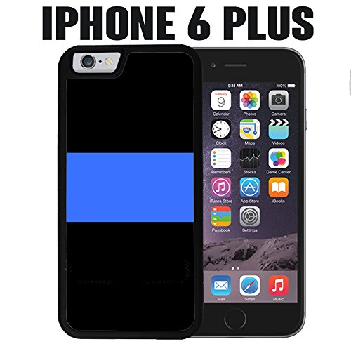 finest selection fbf59 11567 iPhone Case Thin Blue Line Police for iPhone 6 PLUS Rubber Black (Ships  from CA)