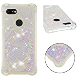 Pixel 3 Case,Google Pixel 3 Case,DAMONDY 3D Cute Bling Liquid Glitter Shock Absorption Bumper Floating Quicksand Diamond Flowing Ultra Clear Soft TPU Case for Google Pixel 3-duobian