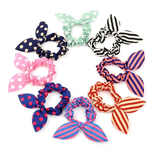 Naughty 3 Piece - Frcolor Hair Elastics Hair Ties Ponytail Holders Hair Bands Hair Accessories (Random Color) - 20 Pieces
