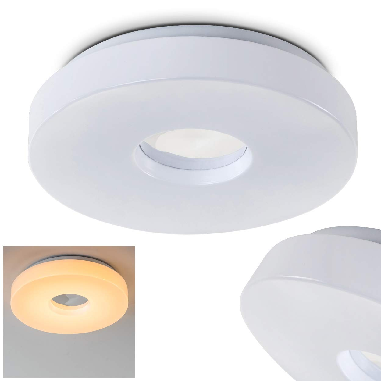 Led round ceiling light 12 watt beautiful circular shaped even glow ip 44 modern design ceiling lamp 3000 kelvin white for indoor outdoor bathroom