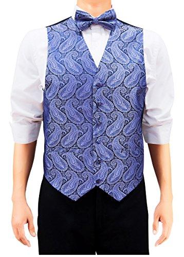 Retreez Men's Paisley Art Pattern Woven Suit Vest, Dress ...