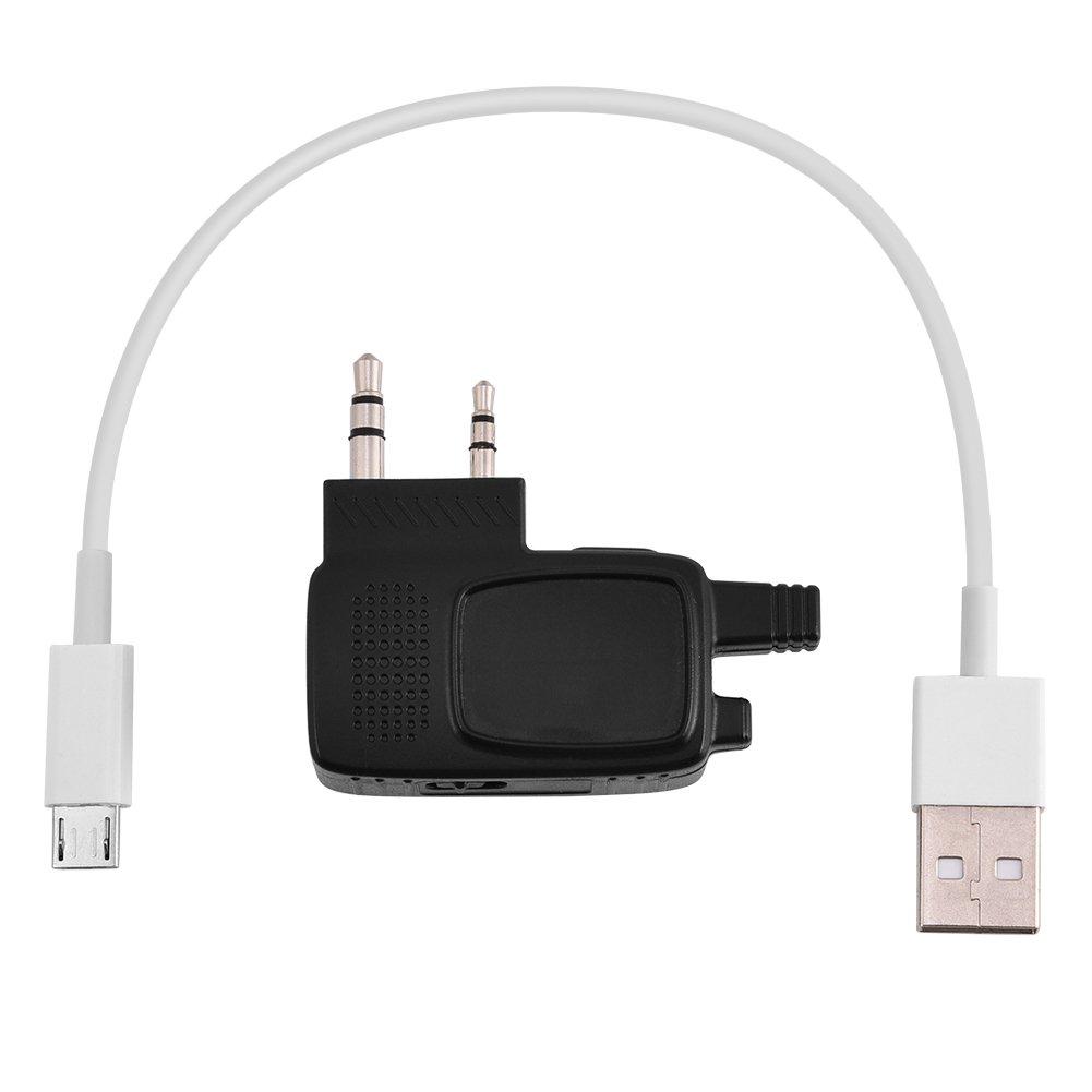 Fosa Bluetooth Walkie Talkie Adapter, 2 Pin K Plug Walkie Talkie Dongle for BF-666s BF-888s BF-777s BF-480