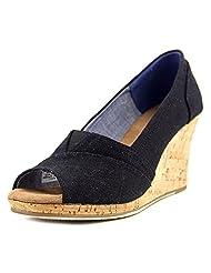 Toms Women's Classic Wedge Linen Cork Ankle-High Canvas Sandal