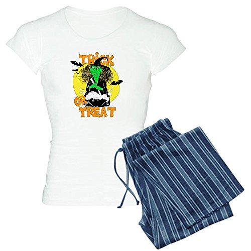 [Royal Lion Women's Light Pajamas Halloween Trick or Treat Witch - Blue Stripe, 2X] (Witch Wig Stripes)