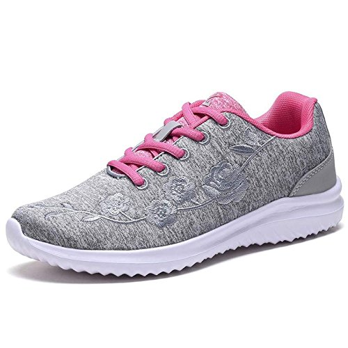 G GEERS Women Fashion Sneakers Athletic Walking Running Sports Shoes 2-Grey 10 B(M) US