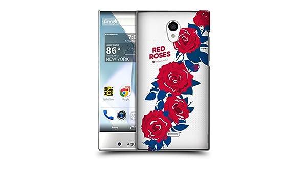 Oficial Inglaterra Rugby Union 2017/18 la rose Ruck lado funda para móviles Sharp: Amazon.es: Electrónica