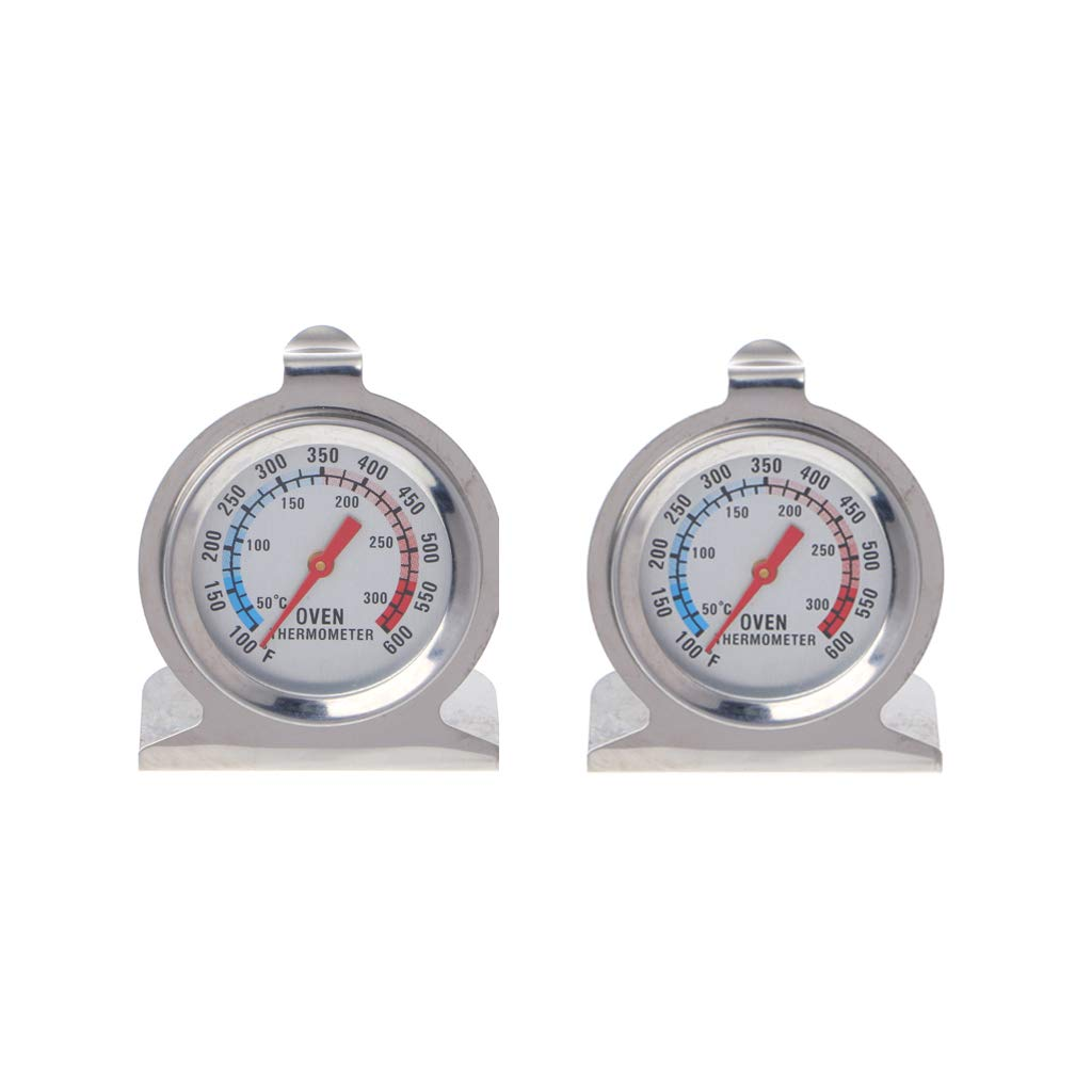 mgjyjy Thermometer, 2019 New 2 Pcs Food Meat Temperature Oven Thermometer High Grade BBQ Grill Gauge Baking Tools