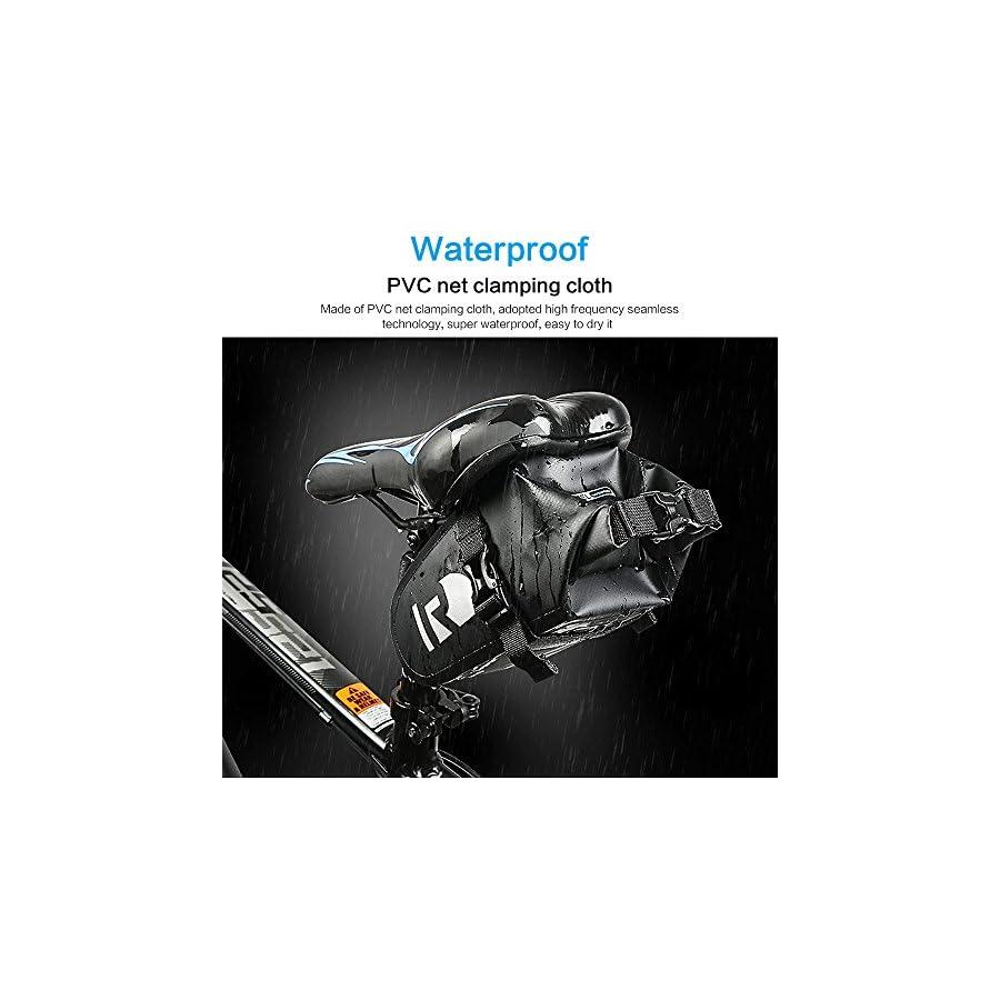 Bicycle BicycleStore Bike Saddle Bag Waterproof Seat Packs Lightweight & Adjustable Bike Bags Under Seat Black