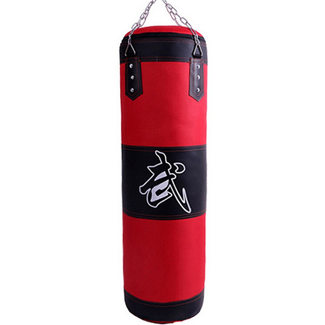 Punching Bag, Outgeek Leather Empty Hanging Chain MMA Martial Art Boxing Training Heavy Bag Kick Bag