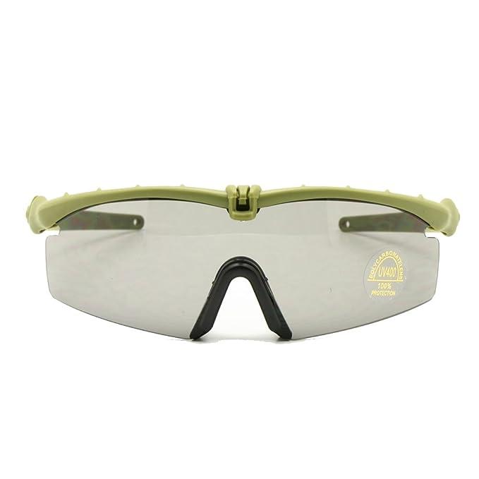 2e4c6e5373 Polarized Army Sunglasses Ballistic Military Goggles Combat War Game Eye  Shield (army green