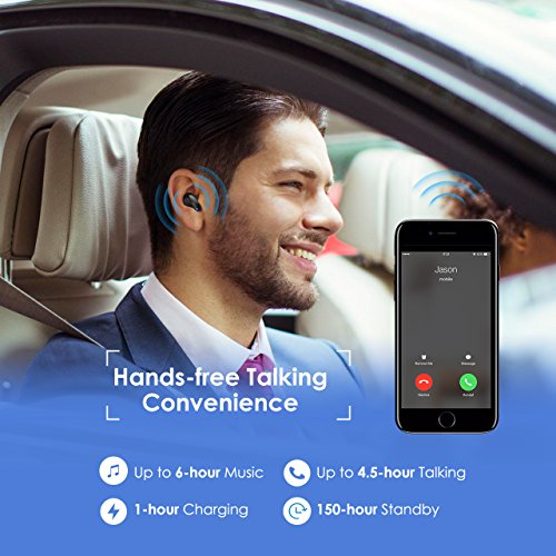 Mpow-Wireless-Earbud-V41-Mini-Bluetooth-Earbud-Car-Bluetooth-Headset-Invisible-Headphone-with-Mic-6-Hr-Playing-Time-Cell-Phone-Bluetooth-Earpiece-for-iPhone-Samsung-Android-One-Pcs-Two-Charger