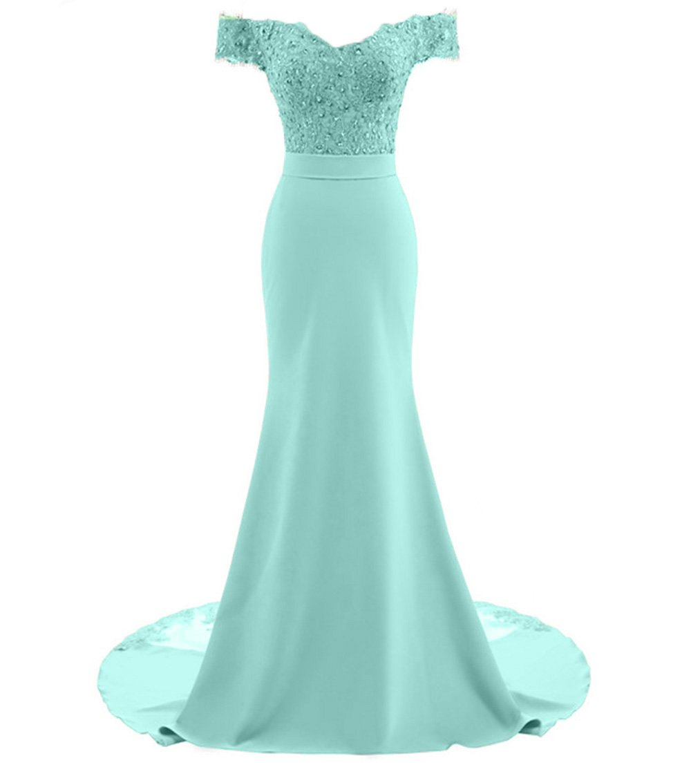 Tea Length Mermaid Bridesmaid Dress Off Shoulder Wedding Evening Prom Party Gown