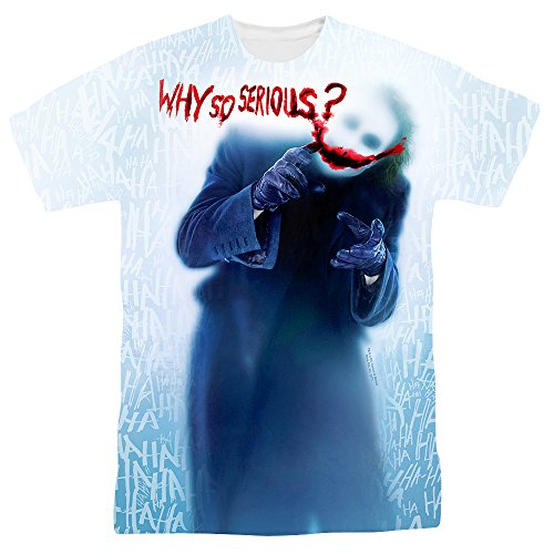 Popfunk The Dark Knight Heath Ledger Why So Serious Joker T Shirts & Exclusive Stickers (Large) ()
