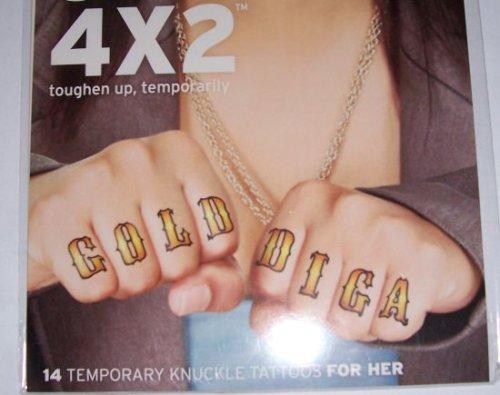 Knuckle Temporary Tattoos (Womens)