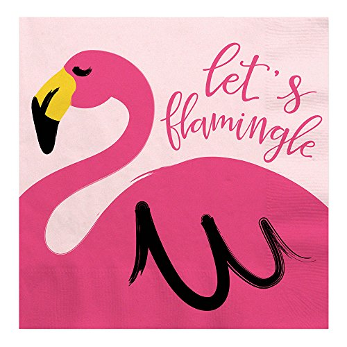 Flamingo – Party Like a Pineapple – Baby Shower or Birthday Party Luncheon Napkins (16 count)