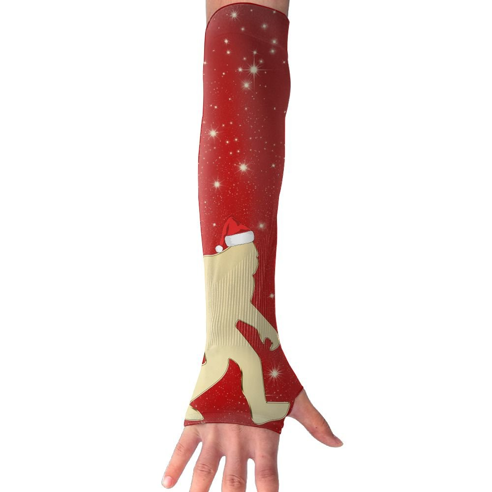 Santa Squatch Bigfoot Unisex Protection Hand Cover Arm Sleeves Cool Cover Sun For Outdoor Activities 1 Pair