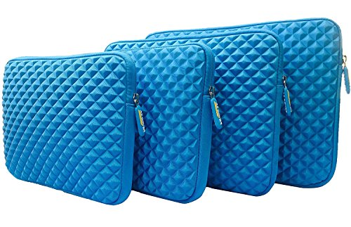 AZ-Cover 14-Inch Simplicity Stylish Diamond Foam Shock-Resistant Neoprene Sleeve (Blue) For Lenovo IBM Thinkpad T420 14-Inch Laptop Intel Core i5-2520M