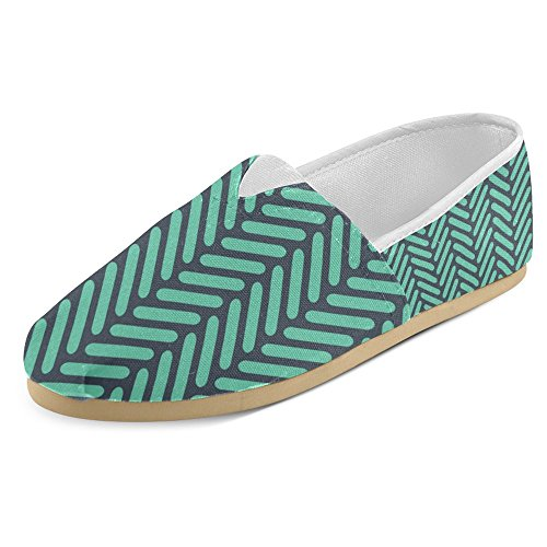 InterestPrint Womens Loafers Classic Casual Canvas Slip On Fashion Shoes Sneakers Flats Herringbone 7EoKvE