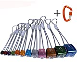 DoMyfit Climbing Wallnut Nuts Set Rock Stopper Set Climbing Points for Outdoor Sports Climbing Equipment Pack of 12pcs