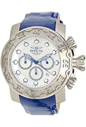Invicta Lupah Chronograph Antique Silver Dial Mens Watch 22391