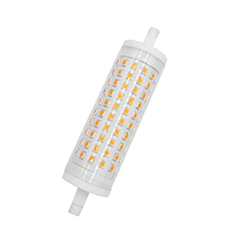 Akaiyal 15W R7s Lámpara de Bombilla LED Regulable 118MM Blanco Cálido 3000K AC85-265V Double