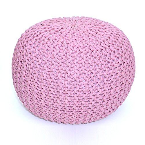 Madhu's COLLECTION Unique Pouf Decorative, Large, Pink by Madhu's COLLECTION