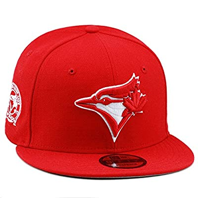 New Era Toronto Blue Jays MLB Snapback Hat Cap Red/White/40th Season Patch