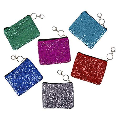 DollarItemDirect 5.5'' Glitter Coin Purse Keychain, Case of 288