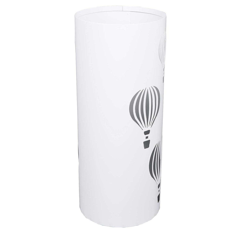 EUGAD 0013YSSNT Porte Parapluie Rond Surface /à Motif Ballon /à air Chaud Support Parapluie en m/étal Rangement Entr/ée avec r/écepteur deau Blanc