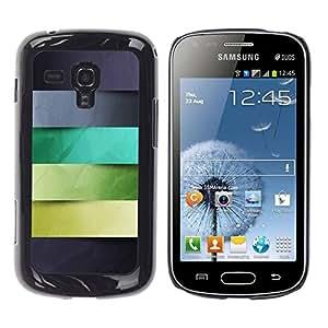 "Pulsar Snap-on Series Teléfono Carcasa Funda Case Caso para Samsung Galaxy S Duos S7562 , Gris Azul Verde Hojas Líneas Patrón"""