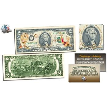 BARACK OBAMA Inauguration 2 Bill US Legal Tender GOLD LEAF Laser Line