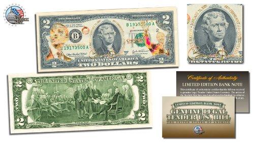 BARACK OBAMA * Inauguration * $2 Bill U.S. - Gold 20 Dollar Coin