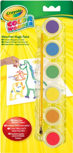 Crayola Color Wonder Gel Paint Palette Refills-Classic - Color Wonder Finger Paint