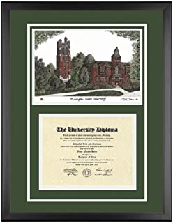 michigan state diploma frame with artwork in classic black frame - Michigan State Diploma Frame