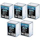 ULTRA PRO **(5x) 2-Piece Box** Holds 100 Cards Each PLASTIC STORAGE BOX Sports Cards & Gaming Decks